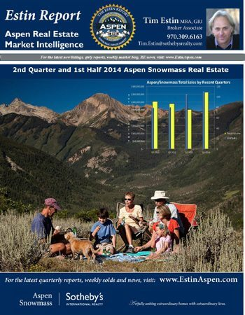 The Estin Report: 2nd Quarter / 1st Half 2014: State of the Aspen Real Estate Market Image