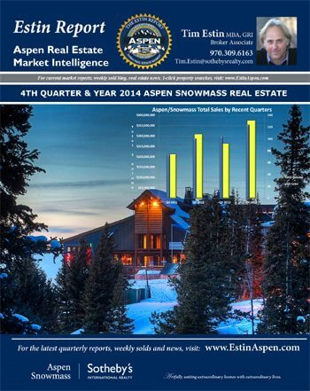 Estin Report 4th Quarter and Year 2014 State of the Aspen Real Estate Market Image