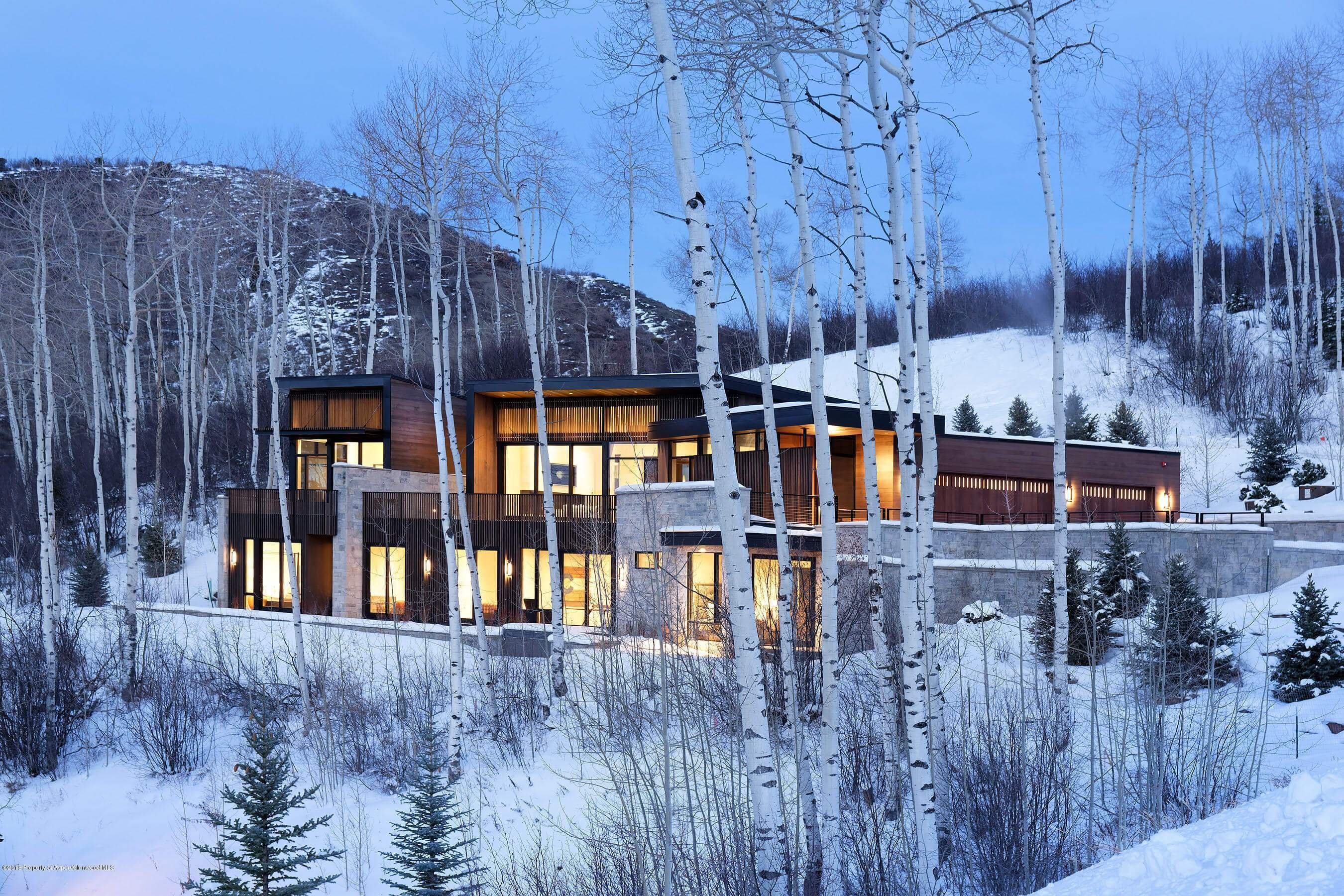 2018 Built Contemp Ski in/Out Snowmass Home at 270 Spruce Ridge Closes at $8.25M/$1,308 SF Furn Image