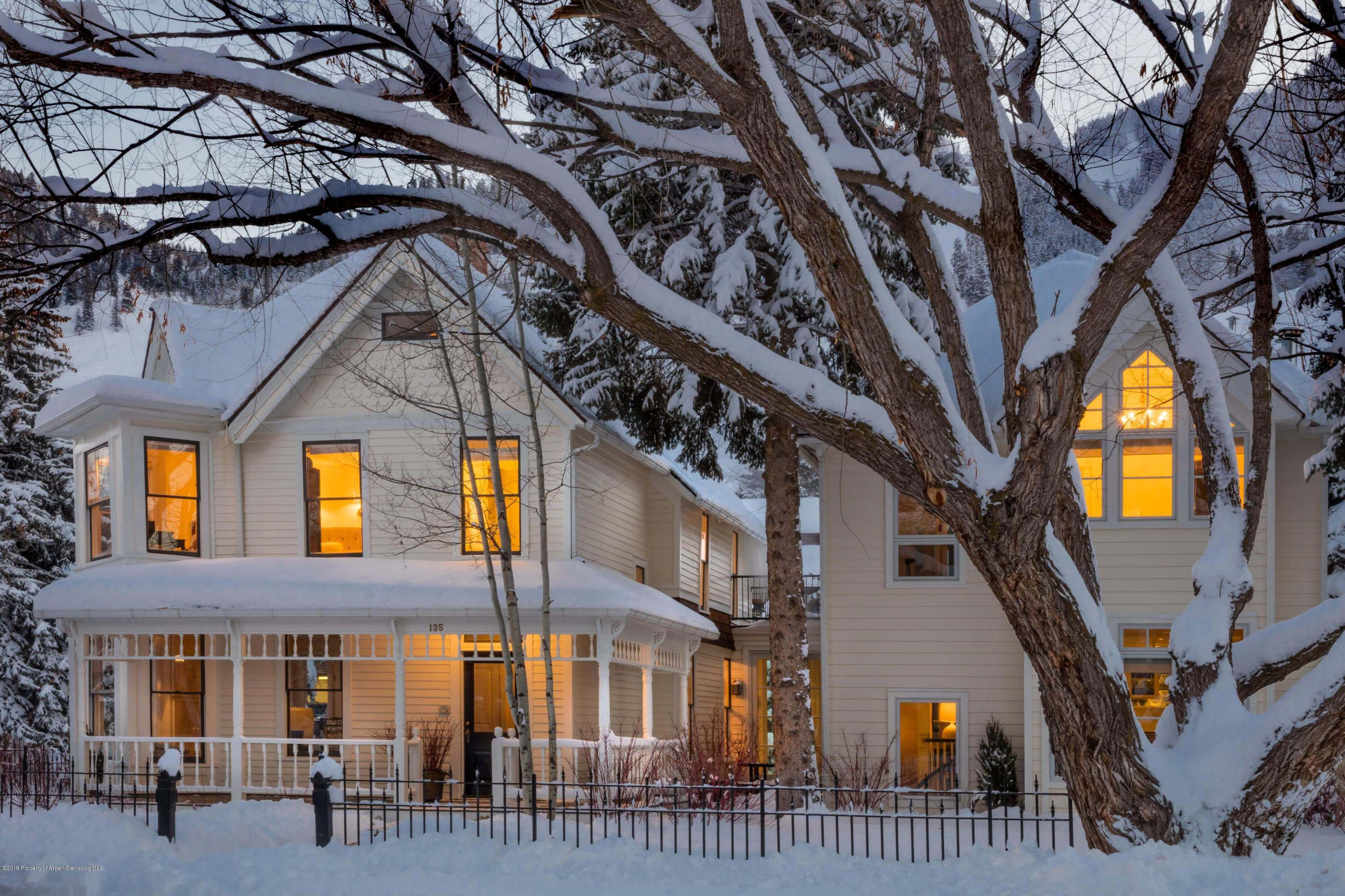 Exquisite 1890/2005 Remodeled 7 Bdrm Aspen Victorian at 135 E Cooper Ave Closes at $21.95M/$3,396 SF Unfurnished Image