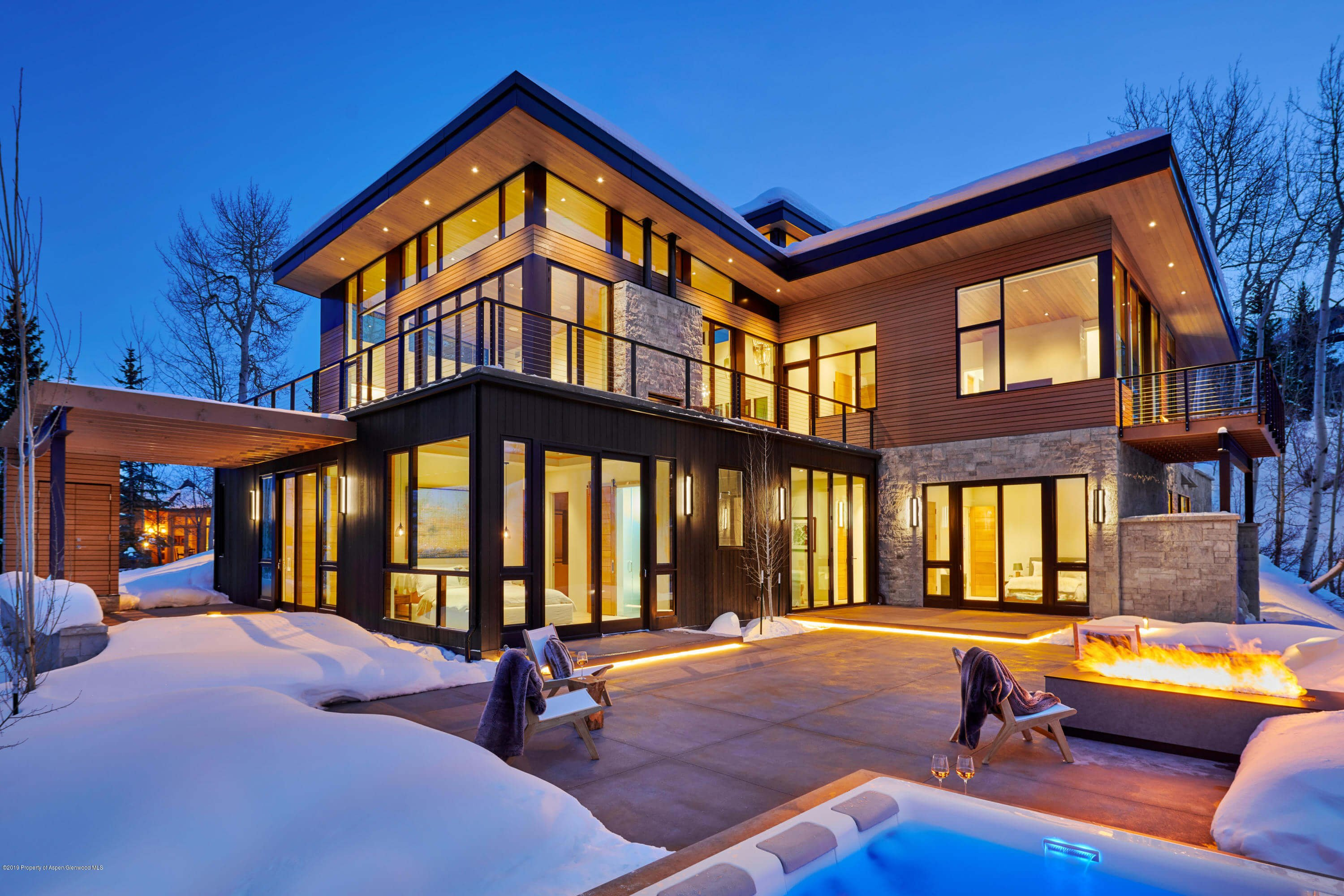 Slopeside 2018 Built Snowmass Contemporary Home at 1627 Wood Rd Closes at $9.45MM/$1,791 SF Furnished Image