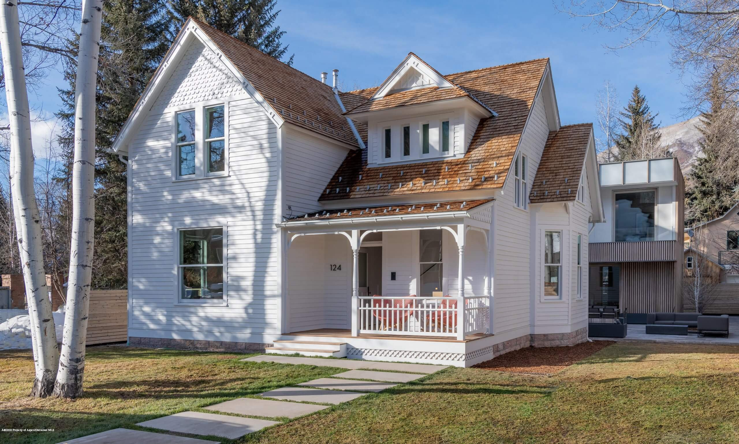 Aspen's West End: Two W. Hallam Street Remodeled Historic Victorians Sell at $12.3M/$2,981 and $22.95M/$3,324 SF Furnished Image