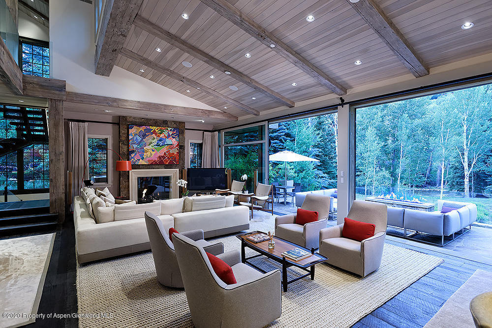 2013 Built Riverfront Home at 1260 Red Butte Dr Sells for $20.5M/$2,604 SF Furn. Image