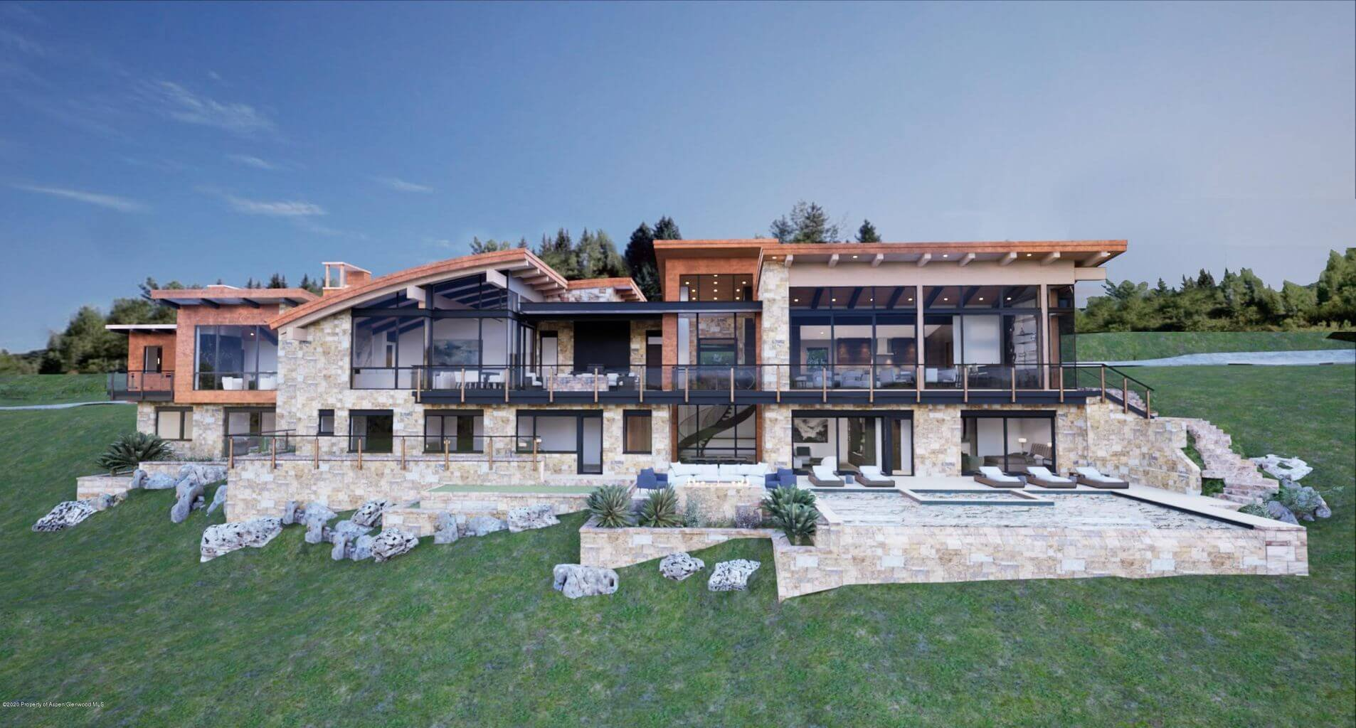 70 Pitkin Way, off Willoughy Way on Red Mountain, Sells Pre-completion Summer 2021 at $24.33M/$2,889 SF Image