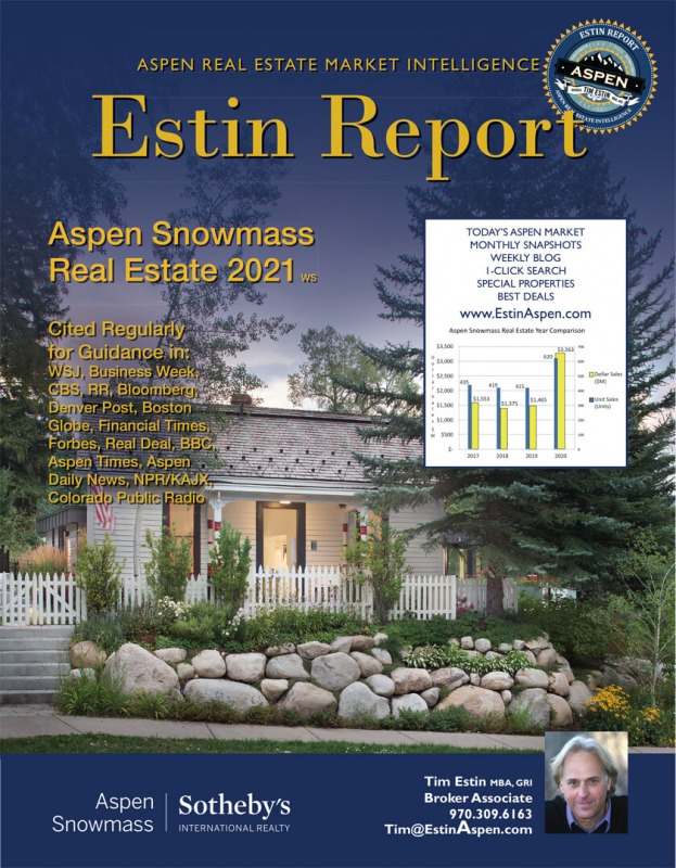 Just released: Estin Report Aspen Snowmass Real Estate 2021 ws Image