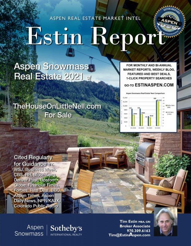 Just released: Estin Report 1st Half 2021 Aspen Snowmass Real Estate Image